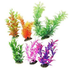 AQUARIUM 6pcs artificielle en plastique plantes d'eau réser