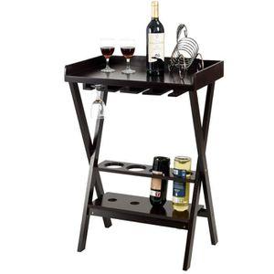 MEUBLE RANGE BOUTEILLE Casier à vin en bois casier à bouteilles mini bar