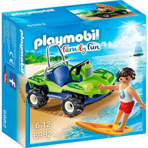 FIGURINE - PERSONNAGE PLAYMOBIL 6982 - Family Fun - Surfeur et Buggy