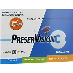 CONFORT OCCULAIRE Bausch + Lomb PreserVision 3 Pack 3 Mois 180 Capsu