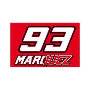 DRAPEAU DÉCORATIF Drapeau Marquez MM93 - Rouge
