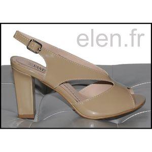 SANDALE - NU-PIEDS Sandales à talons couleur taupe VANESSA Ref: 0327