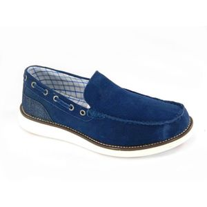 MOCASSIN Army Sea Mocassins Homme Blue Boat Shoes 40110 45