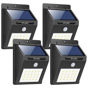 LAMPE DE JARDIN  Lot de 4 lampe solaire extérieure 20LEDs lumière i