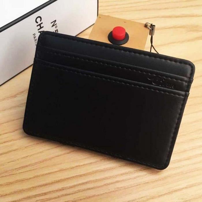 Crédit En monnaie Portefeuilles Homme Wallet Porte Cuir Petit Id Bk Carte De Mn3903 Mini E8z5qx