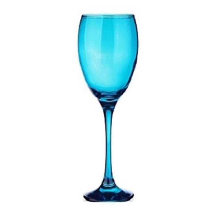 6 verres pied bleu verres bleu teint en bleu 200 ml sables reflets achat vente. Black Bedroom Furniture Sets. Home Design Ideas