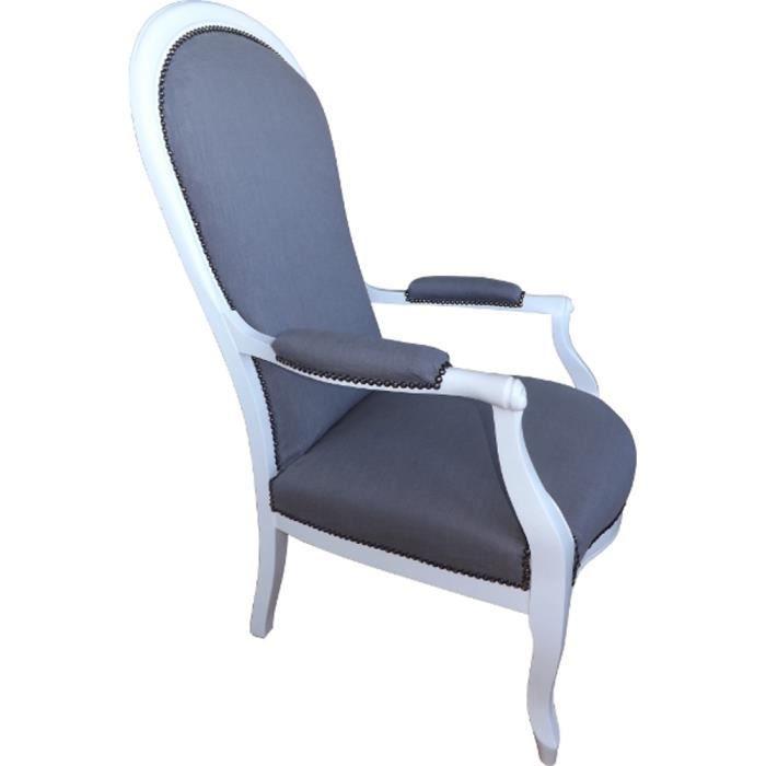 Fauteuil Voltaire Lin gris Années 1940 - Achat / Vente fauteuil Gris ...