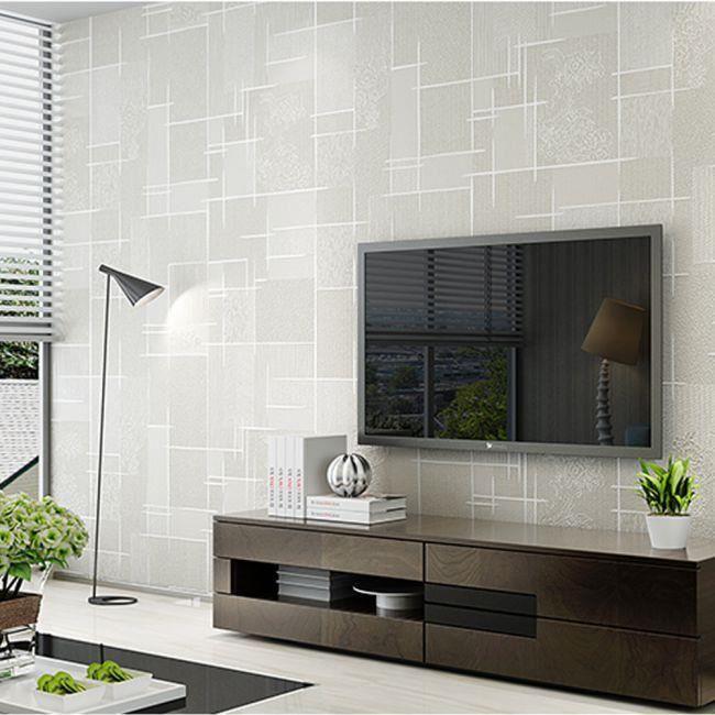 Papier Peint Moderne Effet 3d Texture En Relief Non Tisse Pour Salon