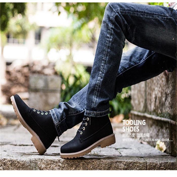 hommes Chaussure 2017 Nouvelle mode bottes militaires homme boot de securite de travail embout acier de luxe de marques hommes