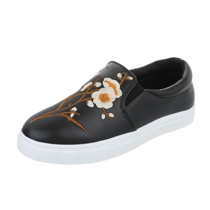 Mocassin Sport Chaussures blanc De Noir Sneakers gris 41 Femme argent Noir qSqwpZ