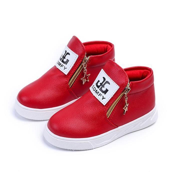 BOTTE Enfants Casual Sport Garçon Filles Mode Martin Bottes Sneakers Automne Chaussures@Blanc MfJtLuc