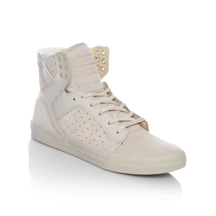 Chaussure Supra Skytop Argent Cloud