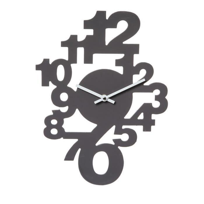 horloge murale chiffre couleur achat vente horloge murale