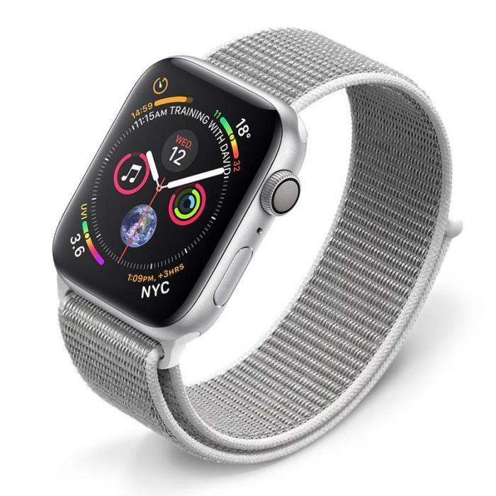 Watch Sangle De Bracelet Réglable42mm44mmBlanc Série Apple Montre Sleo Pour Iwatch 1 3 2 4 EDWHY29I