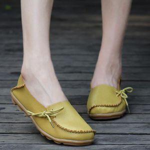 Sidneyki®La lettre des femmes Soft Lace-Up décontracté chaussures plates pois antidérapant chaussures extérieures Orange XKO509 UjTk66nfab