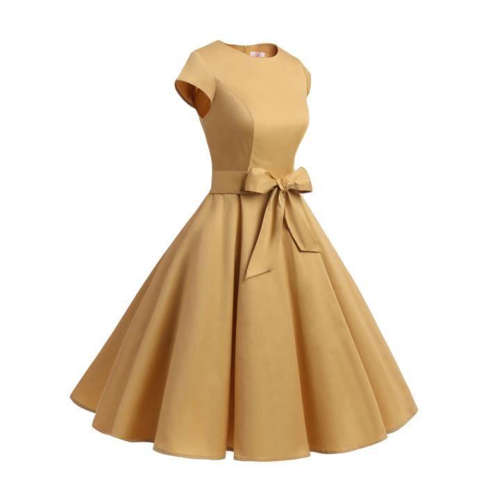 bal 50s Audrey Vintage Polka Robe mancheron up à à pin de Rockabilly Classique 60s Dressystar Hepburn 5xv488Tqpw