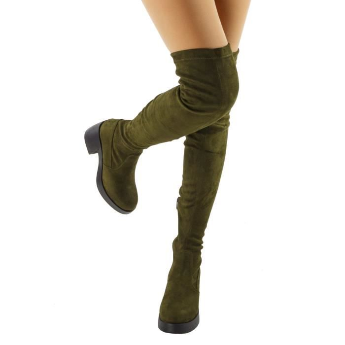 Opus Fitted Platform Chunky Heel Over The Knee Boots VK6EY Taille-39
