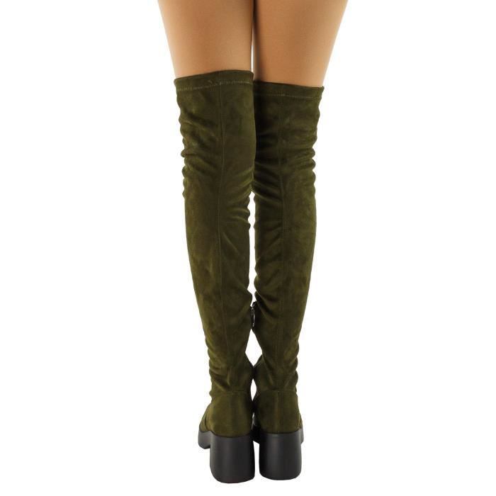 Opus Fitted Platform Chunky Heel Over The Knee Boots VK6EY Taille-39 XsbAyKb