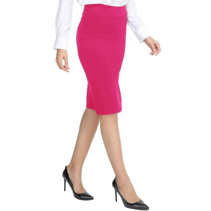 Women's Pencil Taille Skirt 36 Length Stretch 3yqf9u Knee wvOTnzqZwg