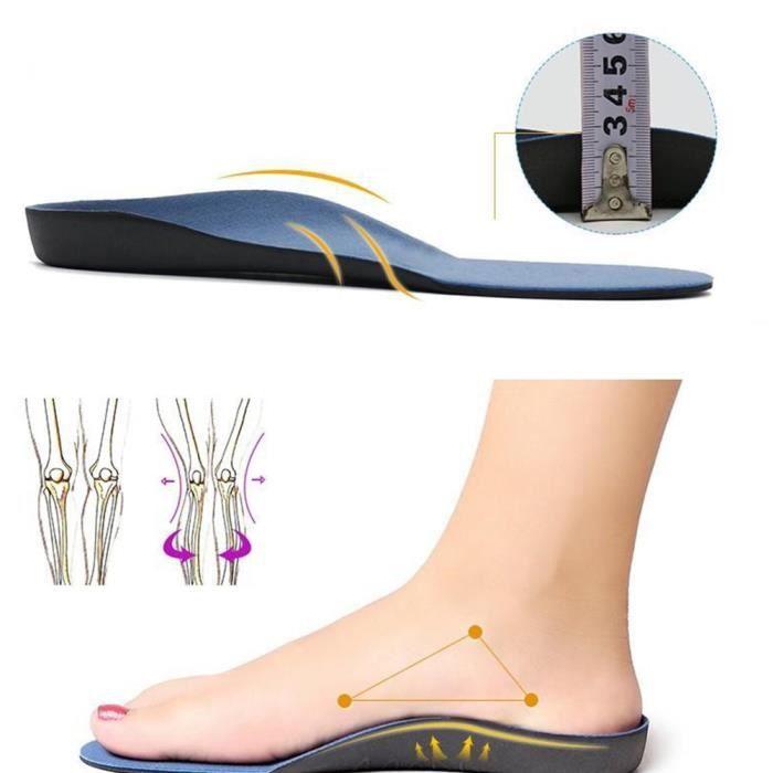 Semelle orthopédique pour pieds plats semelle chaussures coussin d'arceau coussin pieds