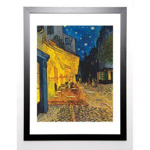 GOGH VAN VINCENT Image encadrée Le café, le soir 67x87 cm Jaune