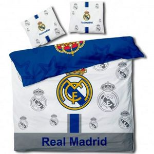 HOUSSE DE COUETTE ET TAIES Real Madrid - Parure de couette 240x220 + taie d'o