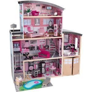 maison en bois pour barbie