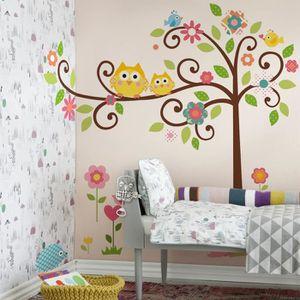 stickers muraux hiboux achat vente pas cher. Black Bedroom Furniture Sets. Home Design Ideas