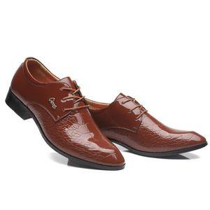 RICHELIEU Chaussures Hommes Classic Lace Up Oxfords perforé