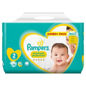 COUCHE PAMPERS Premium protection NEW BABY Taille 2 - 86