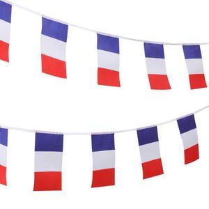 DRAPEAU - BANDEROLE TRIXES 9M Guirlande Tricolore Française Fanions Tr
