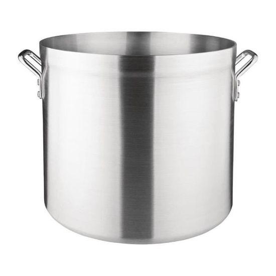 Marmite traiteur 100 litres Ø 50 cm x Haut 50 cm aluminium avec couvercle 60e0d8770518