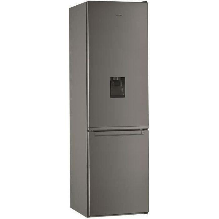 WHIRLPOOL - W7911IOXAQUA - Réfrigérateur combiné - 360 L (256 + 104)- Total NoFrost - A+ - L60cm x H