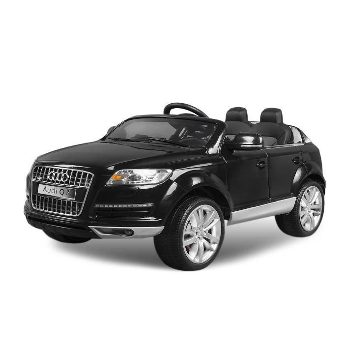 voiture lectrique pour enfant audi q7 noir achat vente voiture enfant cdiscount. Black Bedroom Furniture Sets. Home Design Ideas