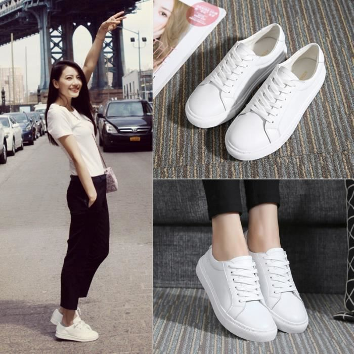 Nouvelle tendance de loisirs tourisme tempérament amateurs chaussures respirant durable blanc chaussures petites chaussures de fille