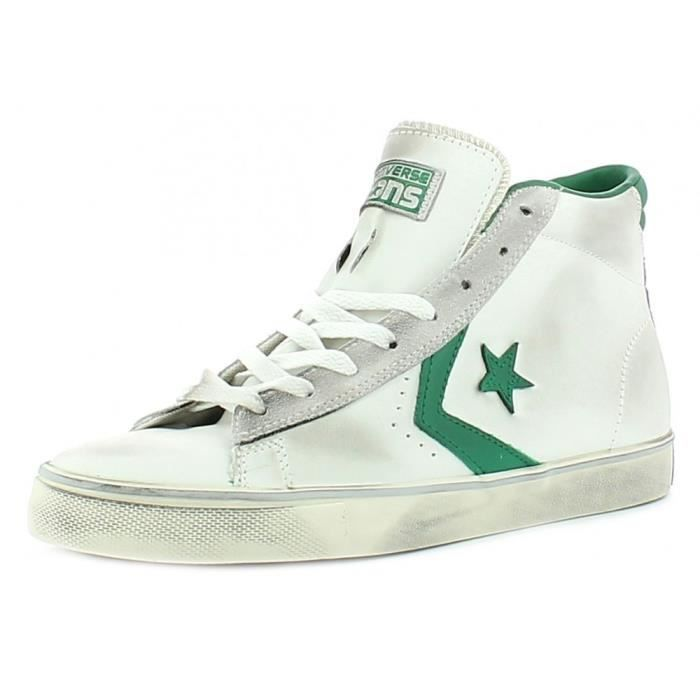 Converse - Converse All Star Chaussures Homme Blanc Pro Leather Mid 6Ygp42P22