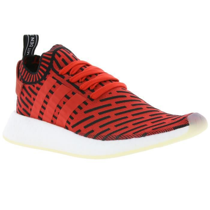 outlet store bc289 385b3 adidas Originals NMD R2 Primeknit Boost Hommes Sneaker Rouge BB2910