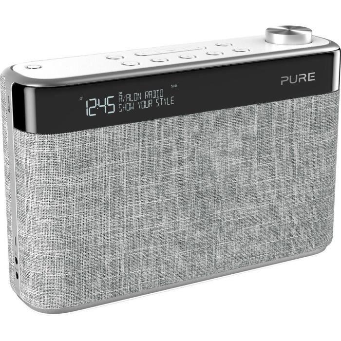 Pure Avalon N5 Radio Dab/dab & Fm Avec Bluetooth - Gris Perle