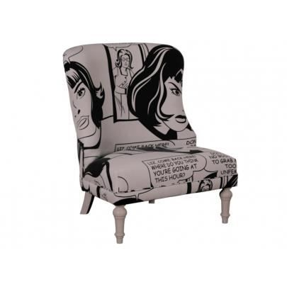 Fauteuil Crapaud Lin Gris. Cheap Fauteuil Crapaud Trianon Lin