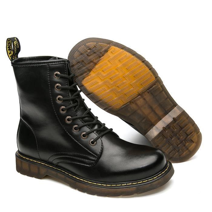 Bottes homme Bottes mode Bottes hiver Bottes étanches Bottes en cuir Chaussures montantes Chaussures confortablesBottes originaux