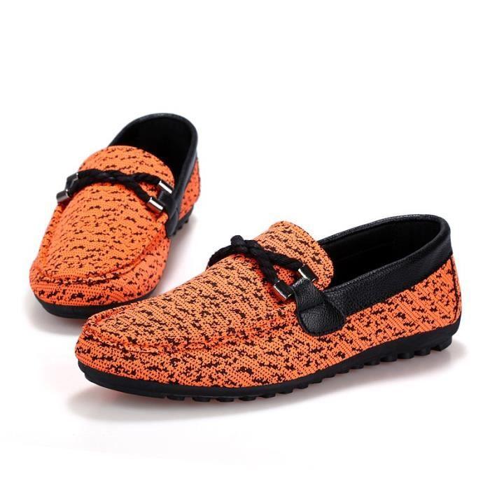 Nouveau Printemps Angleterre Mode Hommes Chaussures Zapato Chaussures Casual Mocassins Flats Slip Shoes,noir,7