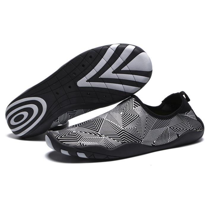 Chaussures d'eau légère Swim peau Aqua Chaussettes Chaussures Slip-on pour la plage G33QZ Taille-39 1-2