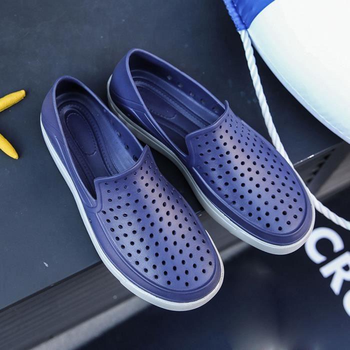 Chaussures D'extérieur Sandales Beach Slipper bleu Creux Hommes Légères Tongs Flat Walk 0rrxpqwd