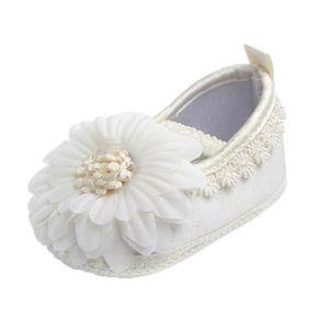 BOTTE Nouveau-né bébé Prewalker Soft Bottom anti-dérapant Chaussures Fille Big Flower Chaussures@BeigeHM exVJbq2
