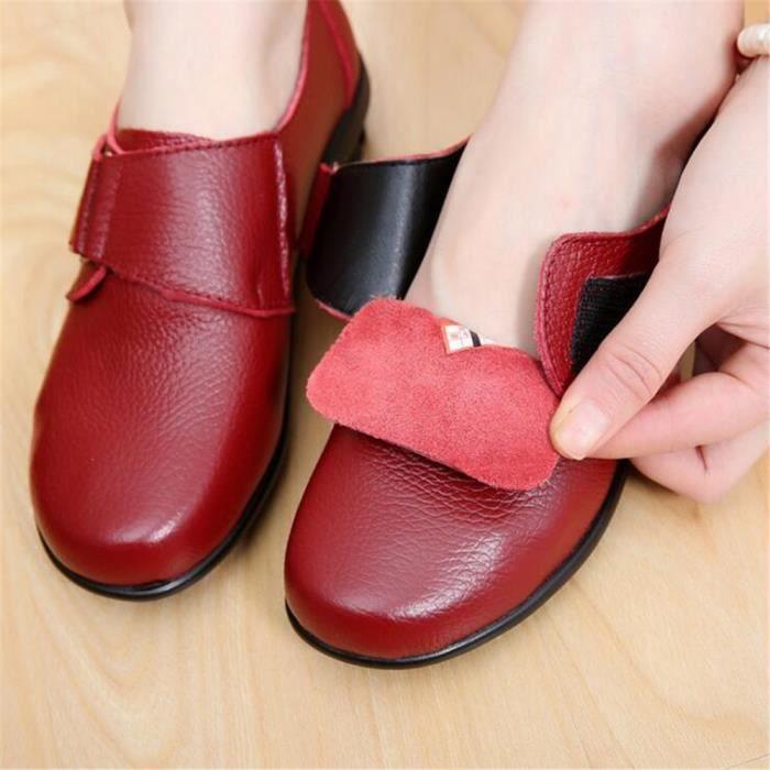Moccasins femme En Cuir 2017 ete nouvelle marque de luxe chaussure Grande Antidérapant TaillePoids Léger chaussure femmes Loafer