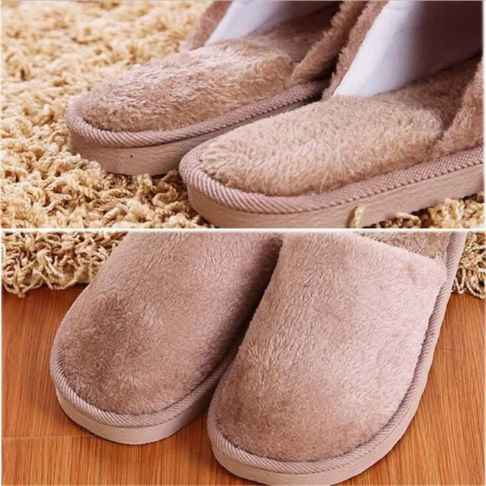 pantoufle pantoufles doux Haut Confort classique et chauds Chaussons d'intérieur qualité hommes chaussons peluche pantoufles wpqnXZqCax