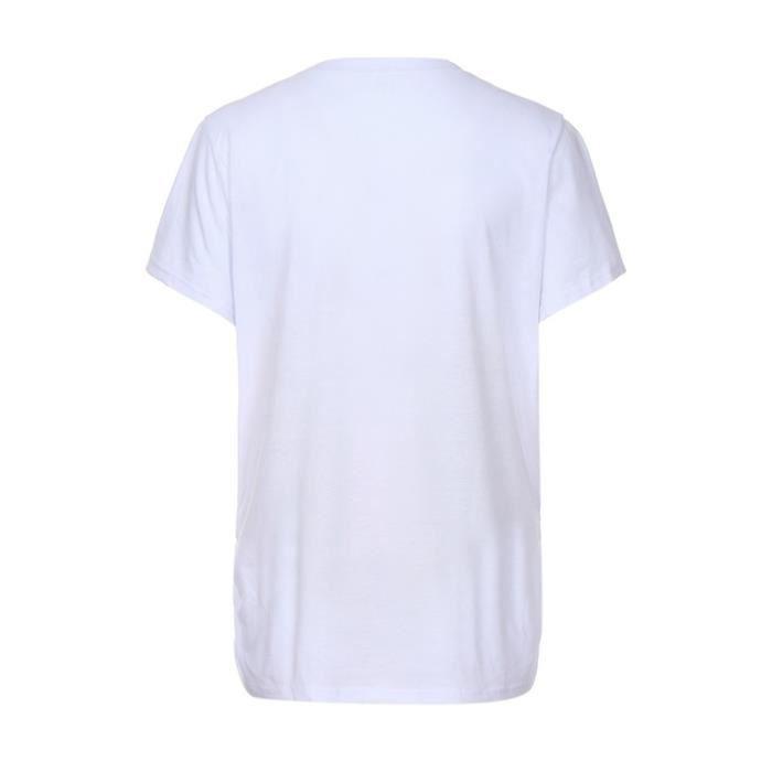 Lettre Maternité Tops Vêtements T Print Femmes De À Courtes Manches shirt Blanc Grossesse Cartoon 5S5RXwqP