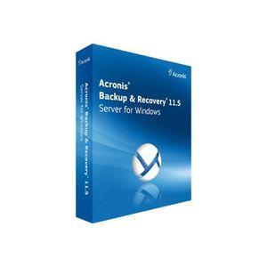 BUREAUTIQUE Acronis Backup & Recovery Server for Windows (v. 1