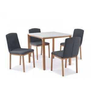 TABLE A MANGER COMPLET Table + 4 chaises scandinave FLACO