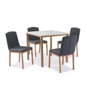 TABLE À MANGER COMPLÈTE Table + 4 chaises scandinave FLACO